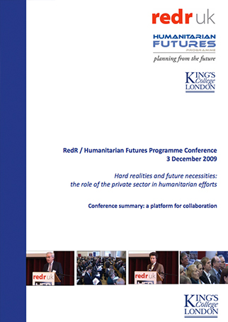 Workshop Report: Hard Realities and Future Necessities – the role of the private sector in humanitarian efforts