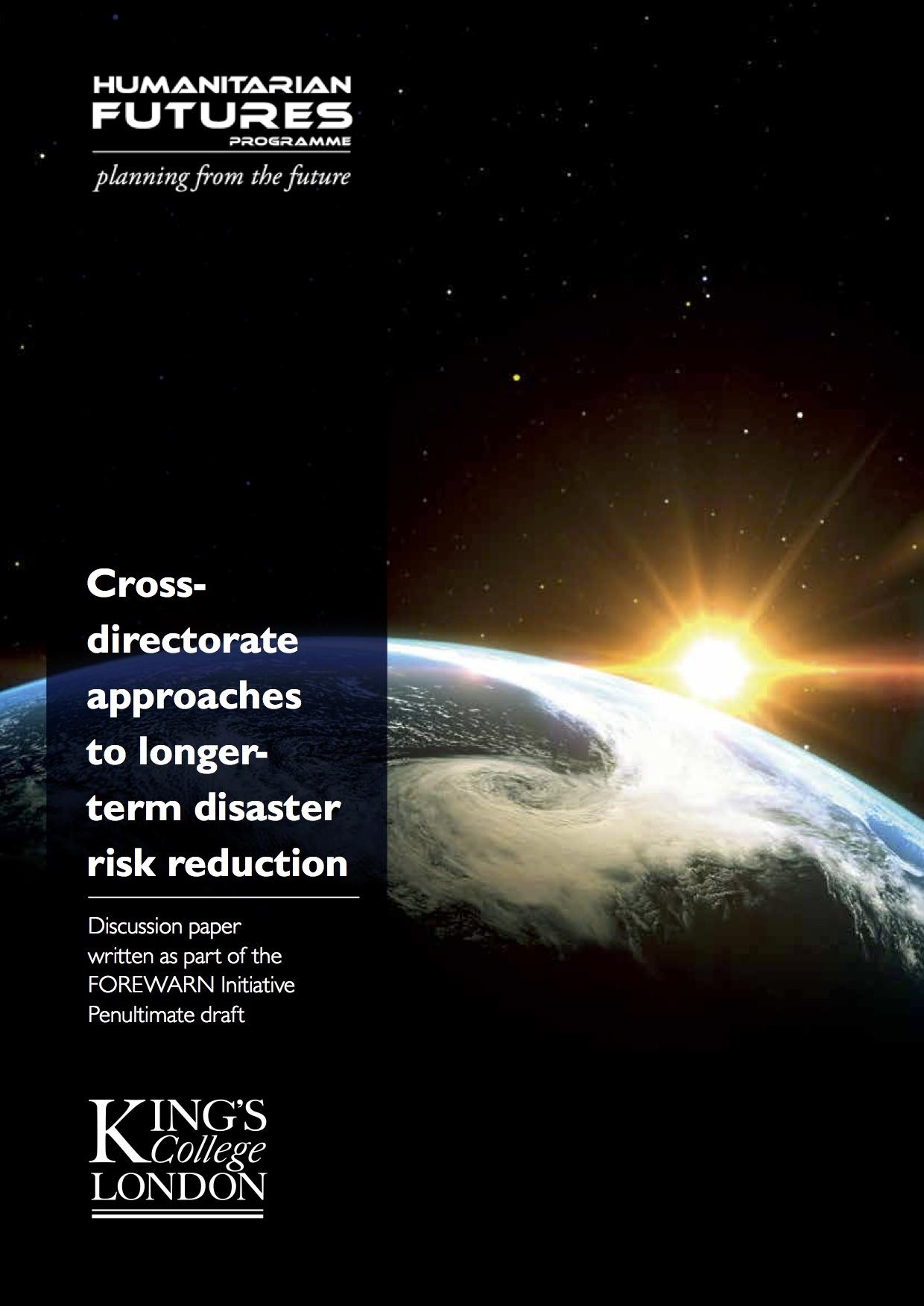 FOREWARN Cross-directorate DRR Report